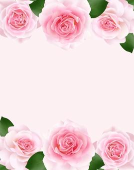 Pink rose frame 1