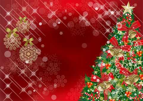 クリスマス&雪RED18