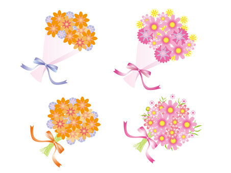 Cosmos flower bouquets