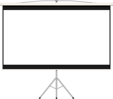 Projector screen frame
