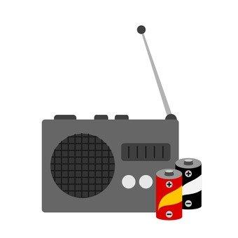 Radio and battery