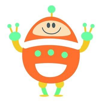 Egg-type robot you (Orange)