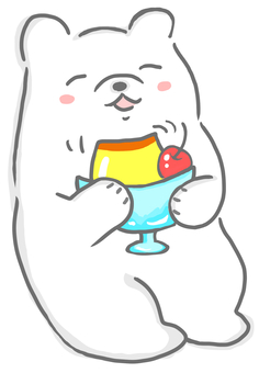 Pudding white bear 3