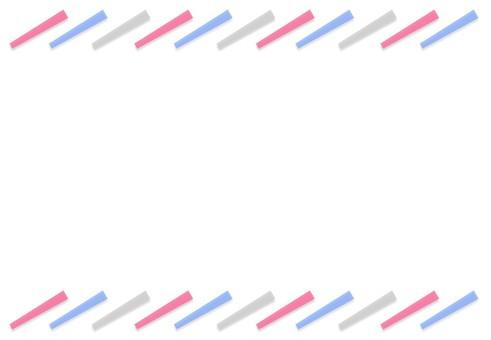스퀘어 프레임 핑크 블루