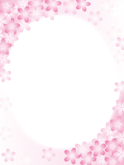 Cherry blossom motif background material 13
