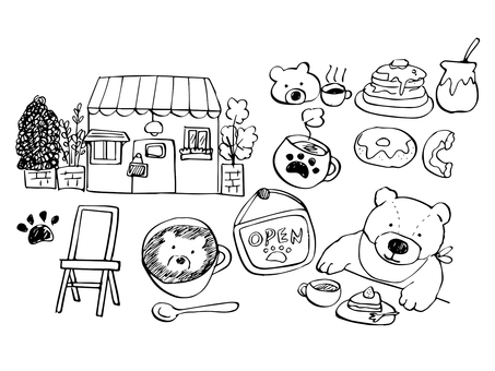 Handwritten Bear Cafe