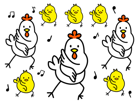Chicken and chick dance version 3