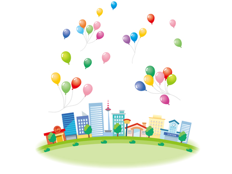 Balloons and the city _ 2
