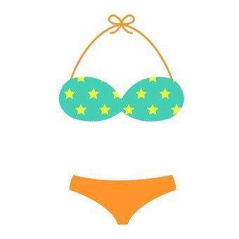 Star pattern bikini