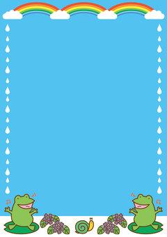 Rainy season frame - vertical