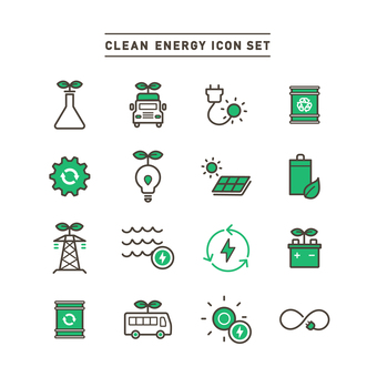 CLEAN ENERGY ICONS