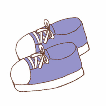 파란 운동화