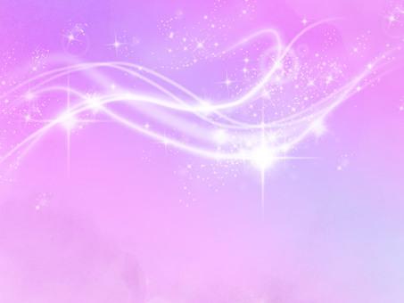Frame glittering star