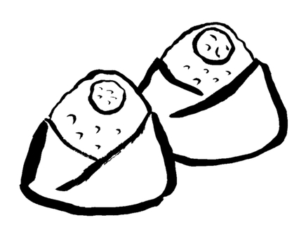 Rice ball (monochrome)