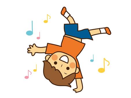 Boy doing break dance