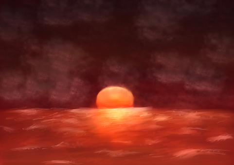 Red sea and sun