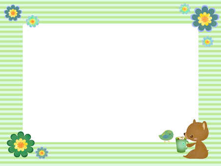 Kuma-chan message card green