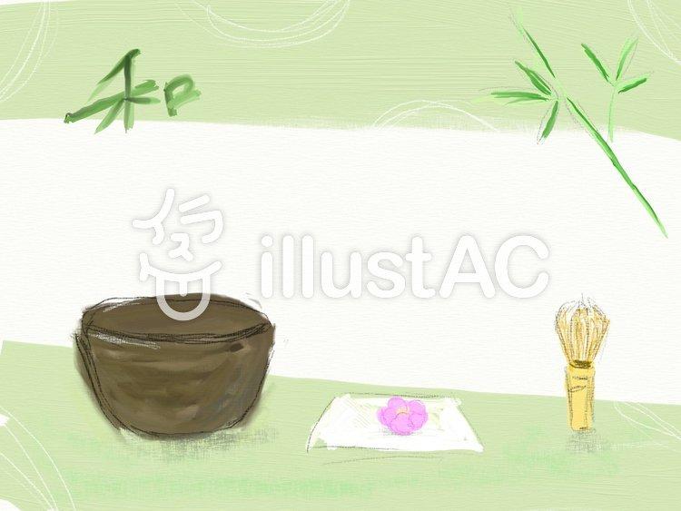 茶道のフレームのイラスト