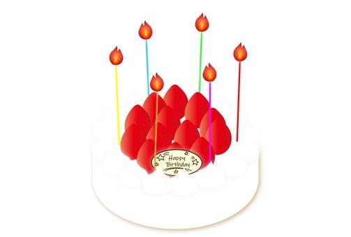 생일 케이크 딸기 생크림