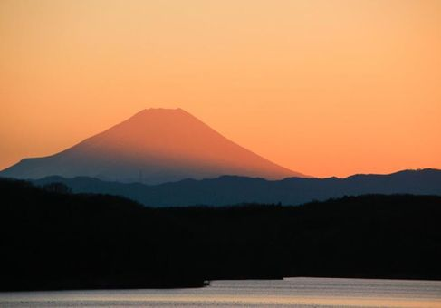 富士日落美景