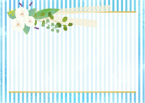 Flower and Stripe card