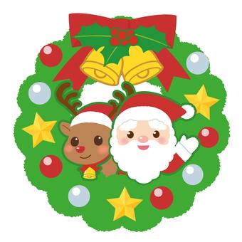 Christmas lease Santa and reindeer