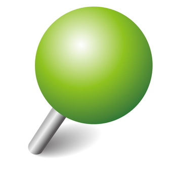 Push pin green