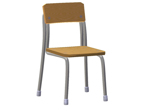 School chair (diagonally front)