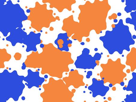 물보라 패턴 1 (파란색과 오렌지)