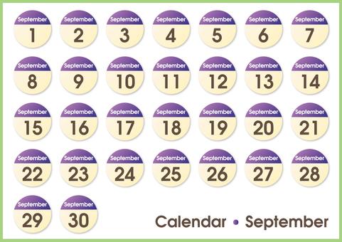 Calendar circle September