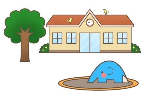 Nursery school · kindergarten (Orange roof) 2