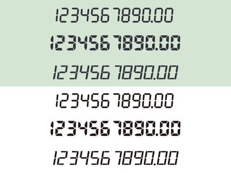 7 segment number