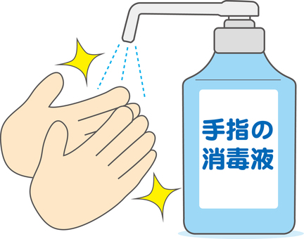 Hand disinfection color