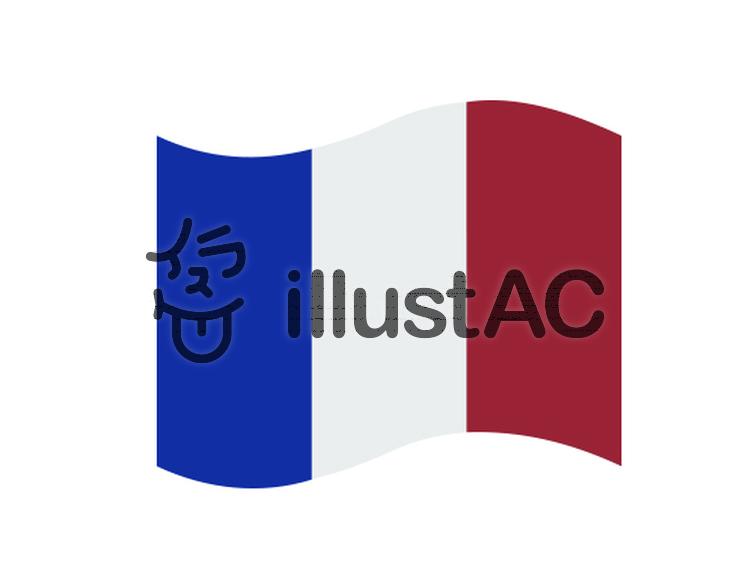 フランス国旗イラスト No 370345無料イラストならイラストac