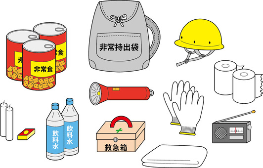 Disaster prevention goods set