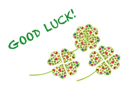 Four Leaf Clover Heart Pattern Good Luck