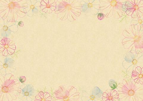 コスモス2クラフト紙+線画