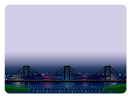 Background frame (14) Rainbow Bridge Night