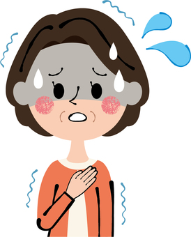 Senior lady anxiety tense bad lady