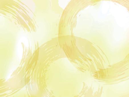 筆輪水彩背景手書き円相和柄和風日本和紙絵