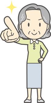 Elderly Bob lady -214 - whole body
