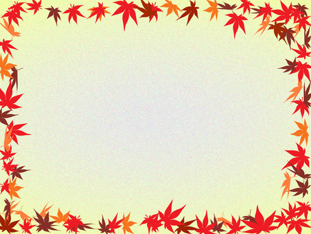 Autumn leaves frame 3