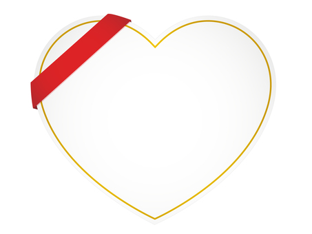Heart and ribbon labels