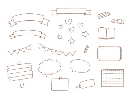 Hand drawn frame material