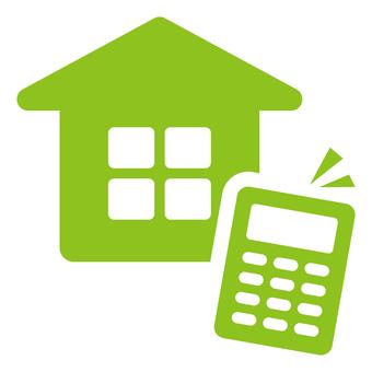 Home and calculator icon