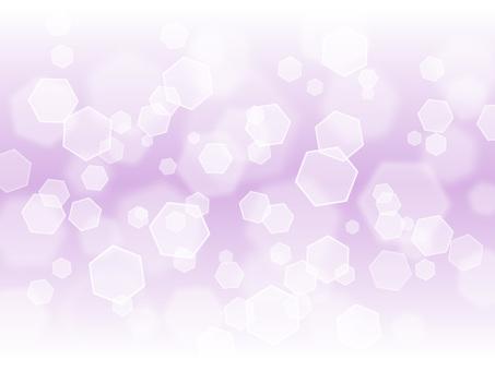 六角形燈·淺紫色