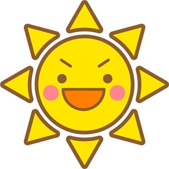 The sun (with face 04)