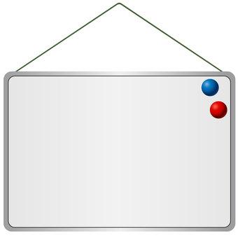 Hanging type whiteboard vector