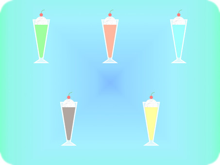 Various for float drink background