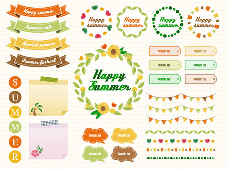 Summer frame set 2